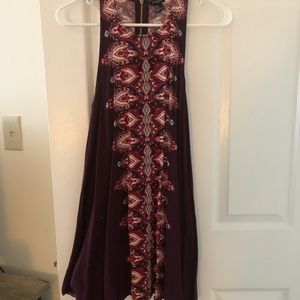 Maroon dress with design